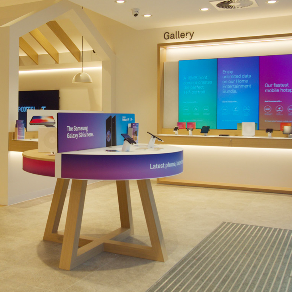 A digitally integrated in-store experience